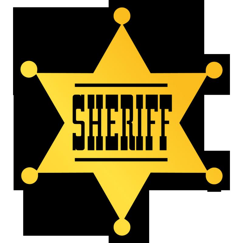 Cowboy clipart sheriff badge. Cow boy stickers decoration