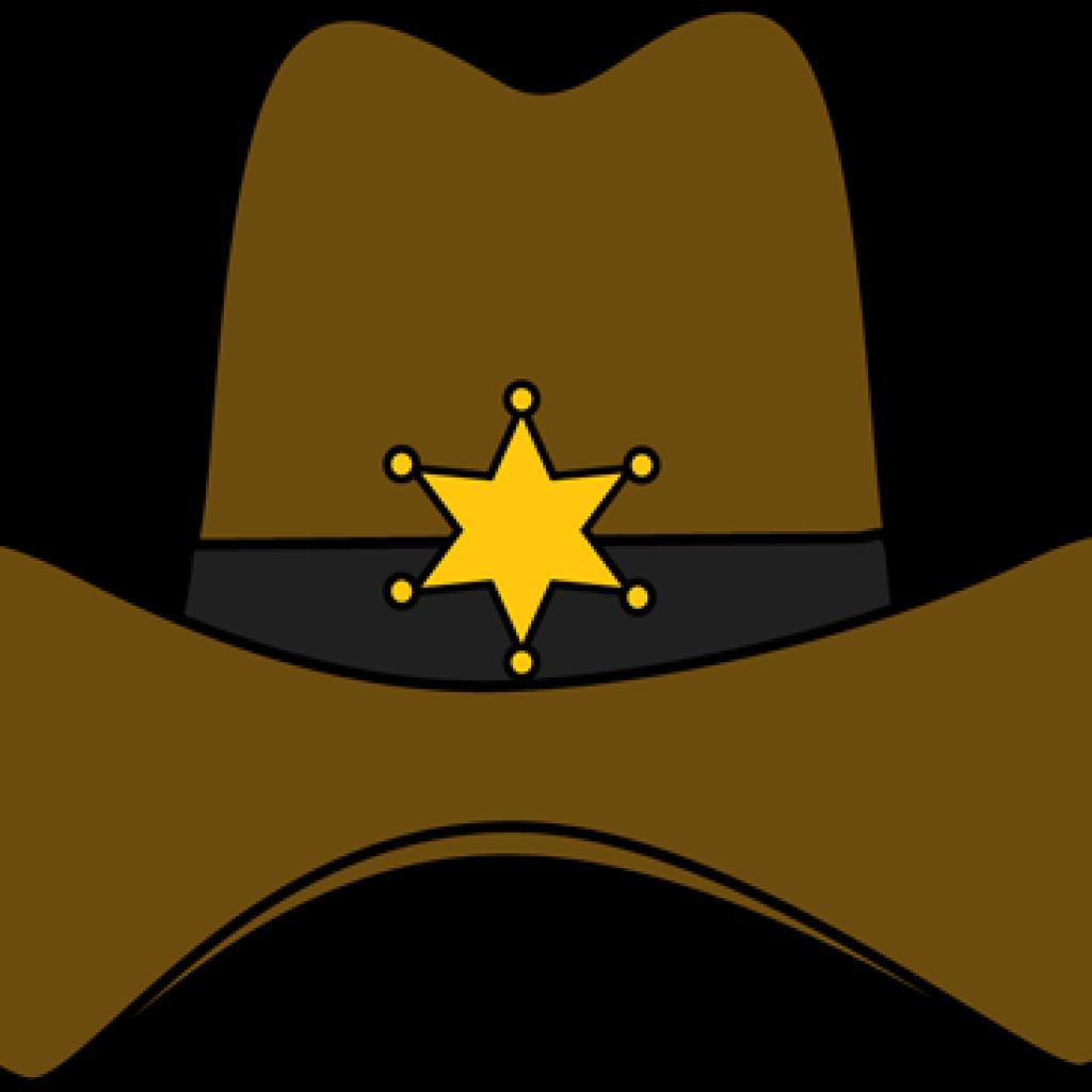 Cowboy clipart sheriff hat. Car hatenylo com clip