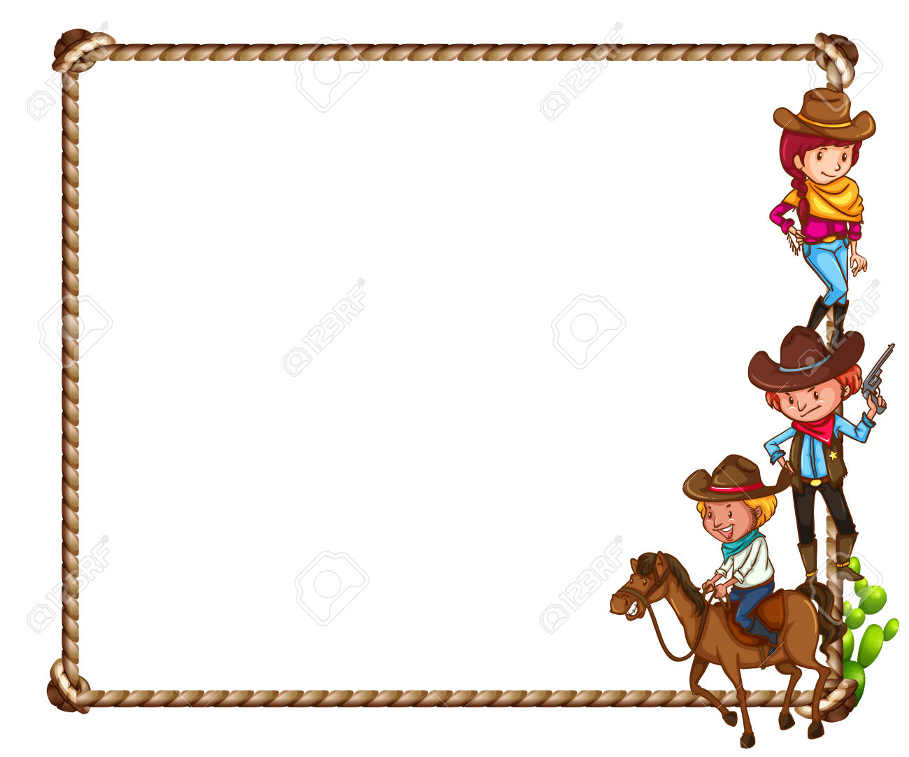 Free western theme cliparts. Cowboy clipart themed