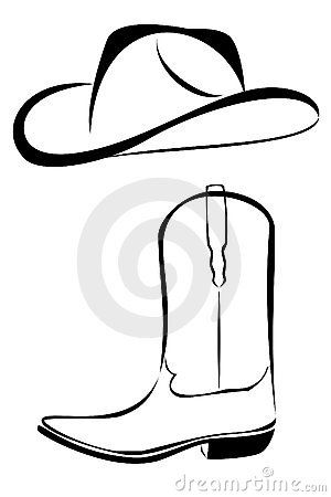 Cowboy clipart tribal. Western black and white