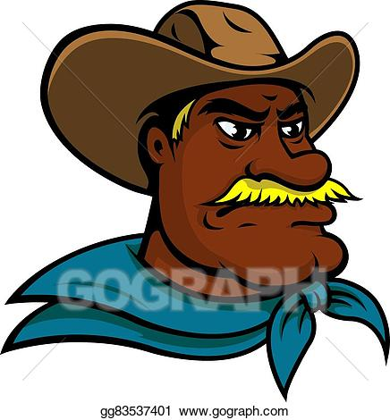Eps vector old cartoon. Cowboy clipart west american