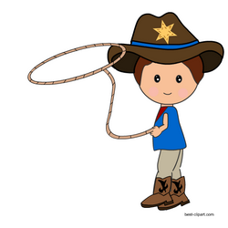 Cowboy clipart west american. With a lasso rope