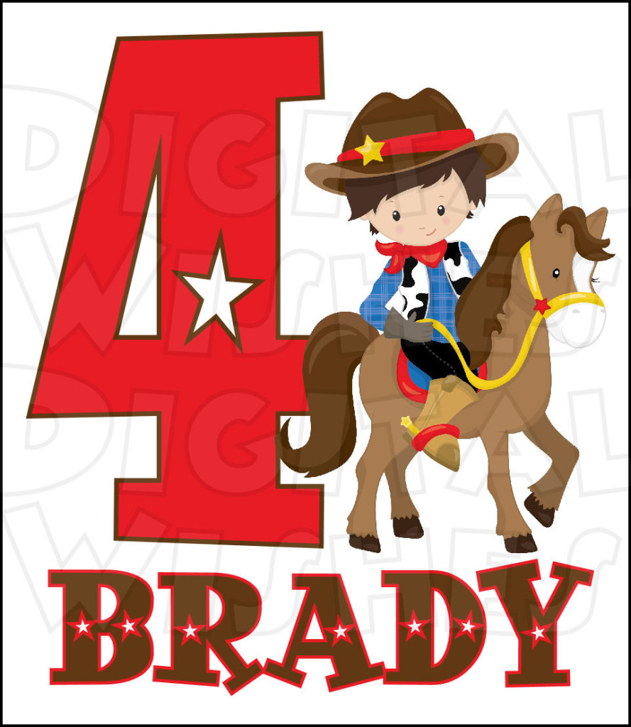 Cowboy clipart western birthday. Free cliparts download clip