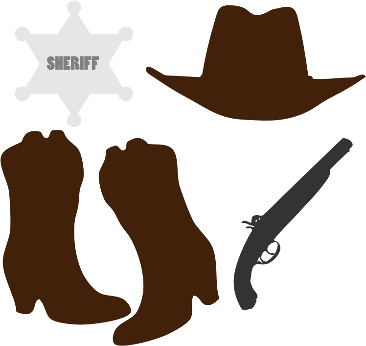Clothing and accessories medium. Cowboy clipart western clothes
