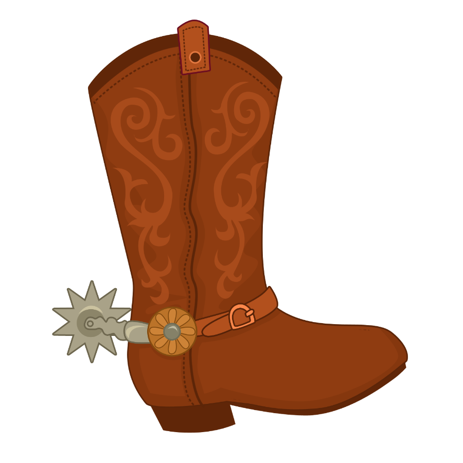 Minus say hello clip. Cowgirl clipart brown cowboy boot
