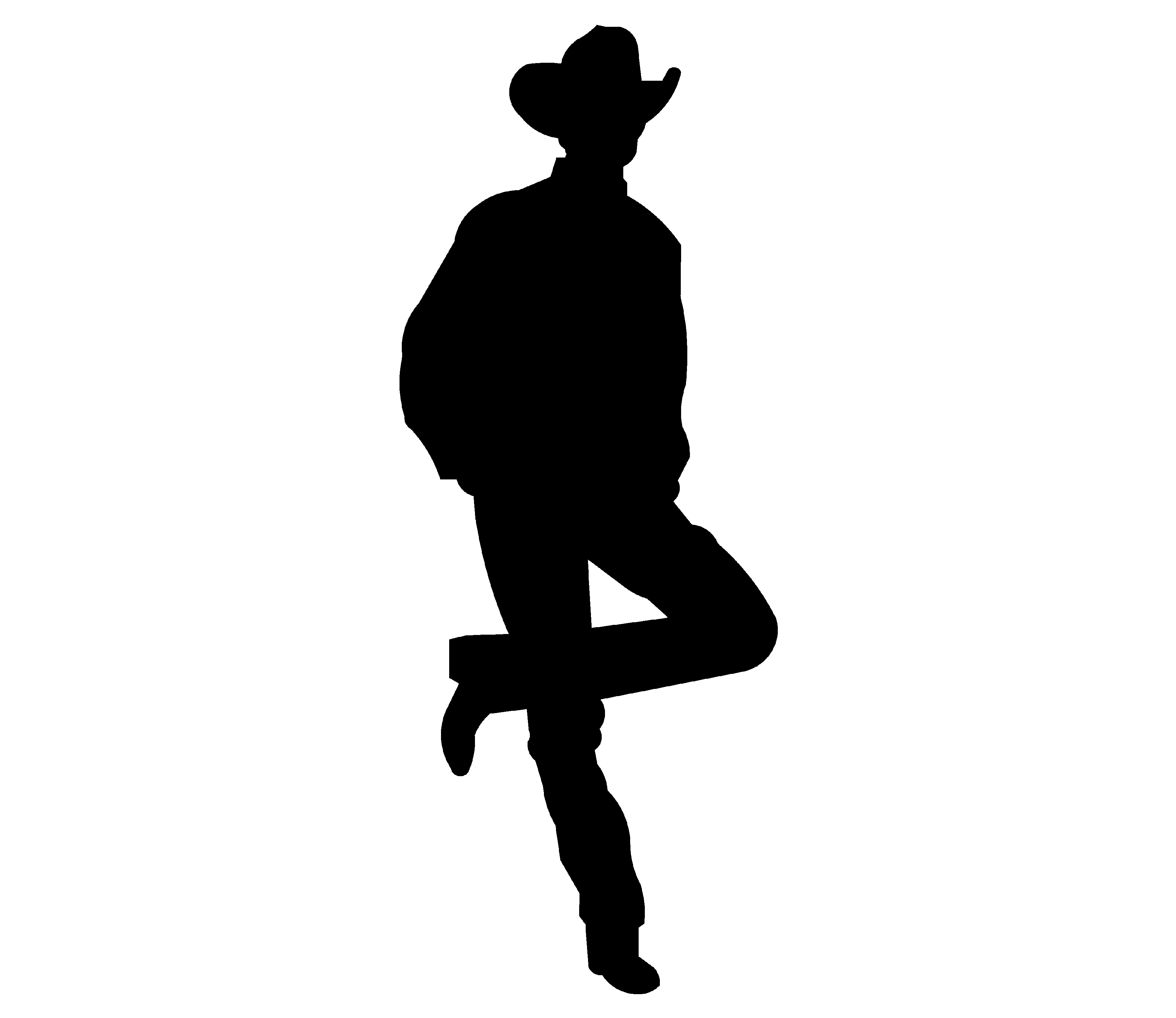 Cowboy clipart western person. Maybe this one side