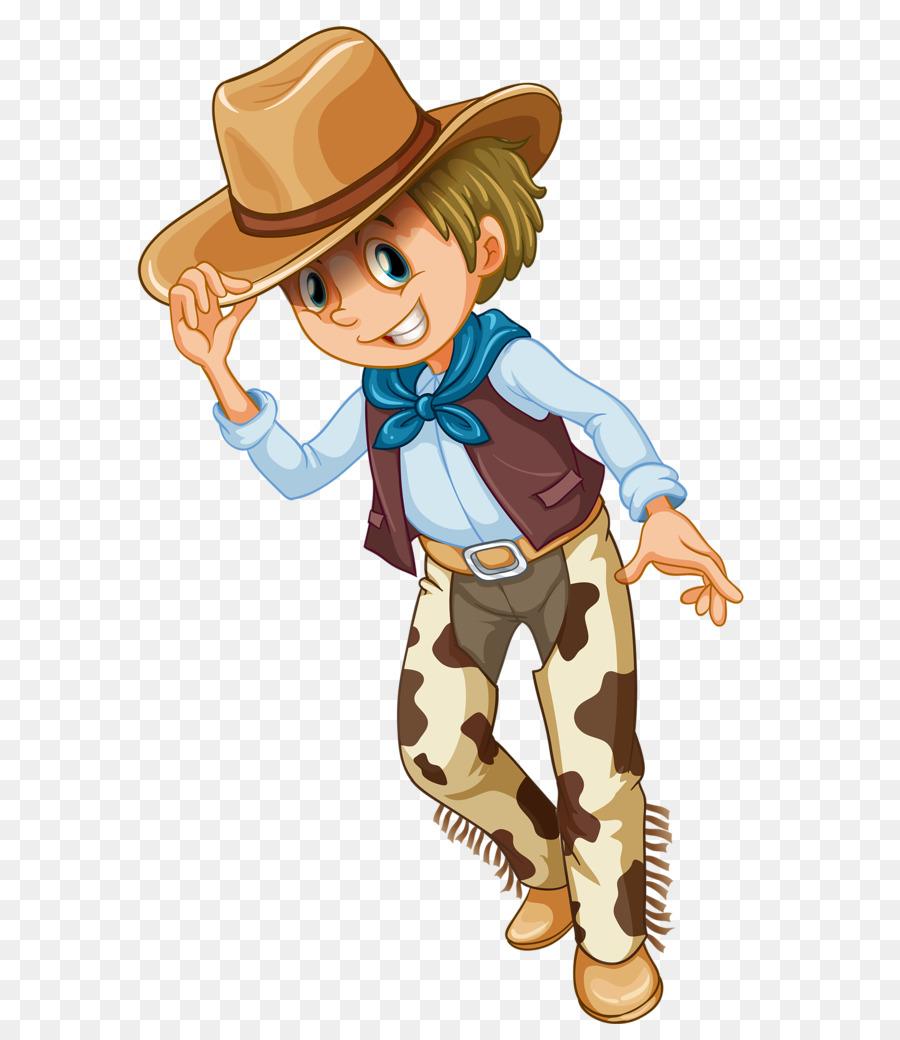 Cowboy clipart western person. Hat clothing cartoon boy