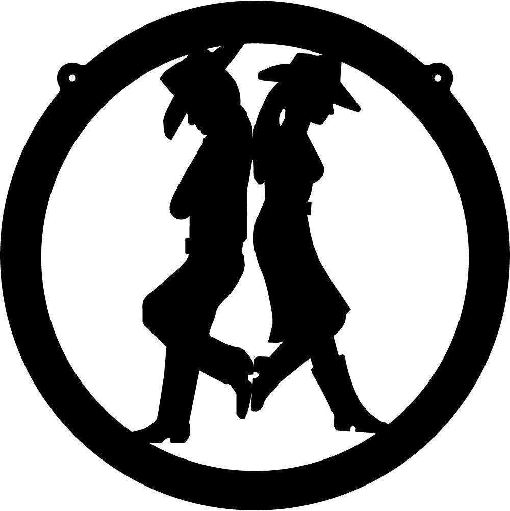 Tinkerbell silhouette w cowgirl. Cowboy clipart western wedding