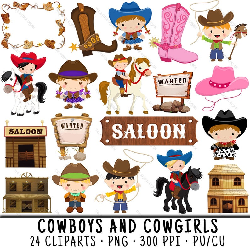 Cowboy clipart westernclip. Cowgirl western clip art