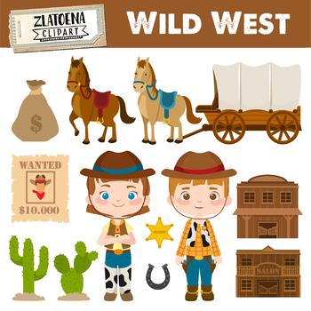 Cowboy clipart wild west. Digital clip art cowgirl