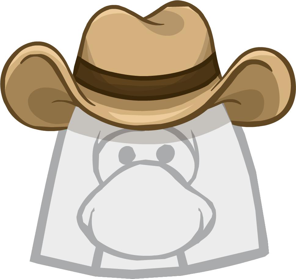Puffle hat club penguin. Cowboy clipart wrangler cowboy