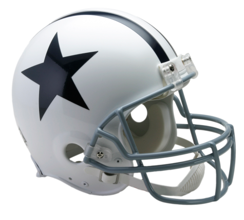Cowboys helmet png. Dallas vsr authentic throwback