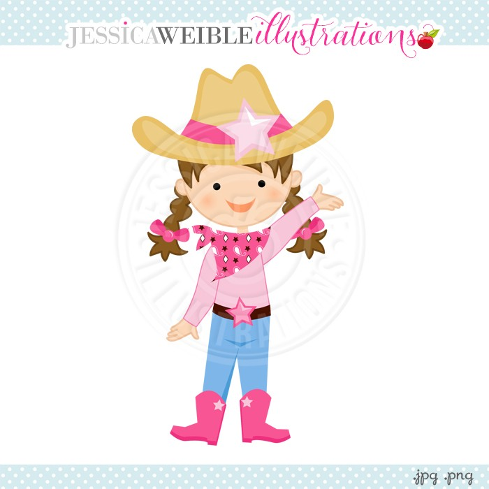 Cowgirl clipart. Little
