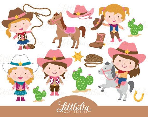 Wild west from littleliagraphic. Cowgirl clipart