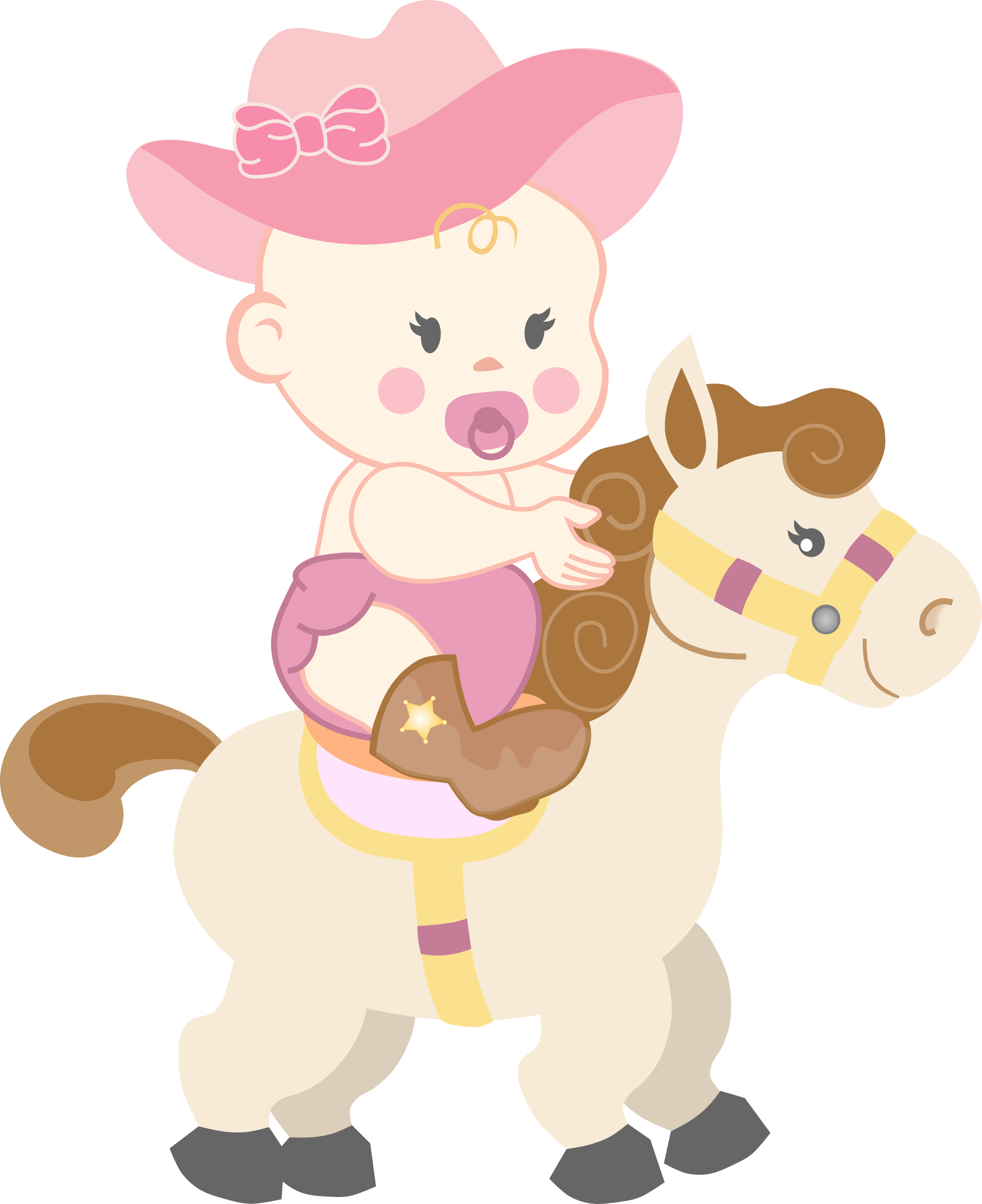 Girl shower on a. Cowgirl clipart baby cowgirl