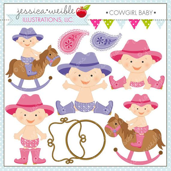 Cute digital for commercial. Cowgirl clipart baby cowgirl