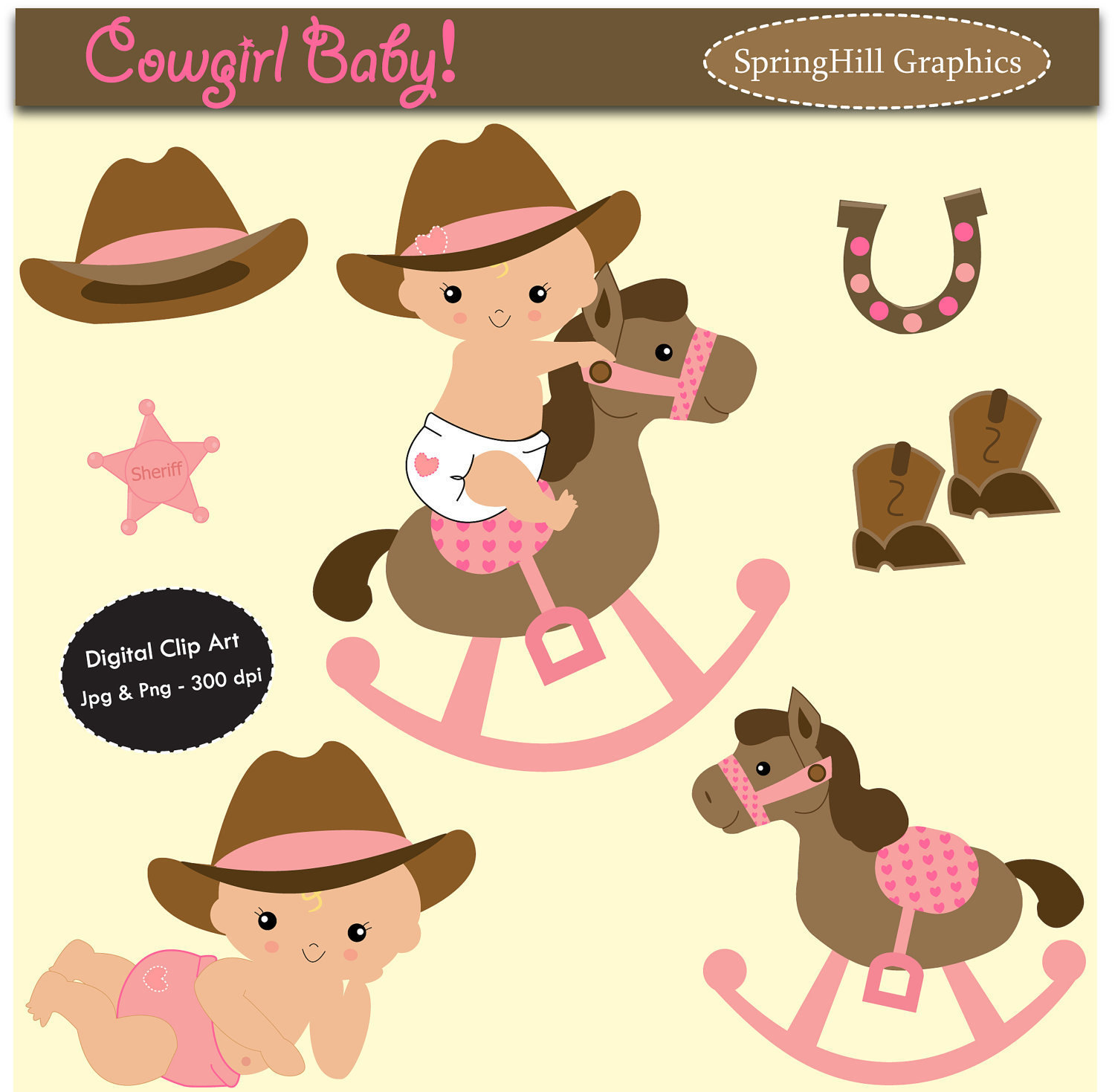 Cowgirl clipart baby cowgirl. Cliparts zone