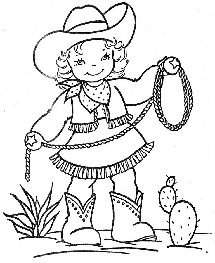 Station . Cowgirl clipart black and white