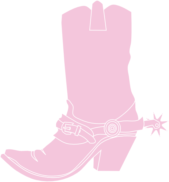 Light pink clip art. Cowgirl clipart brown cowboy boot