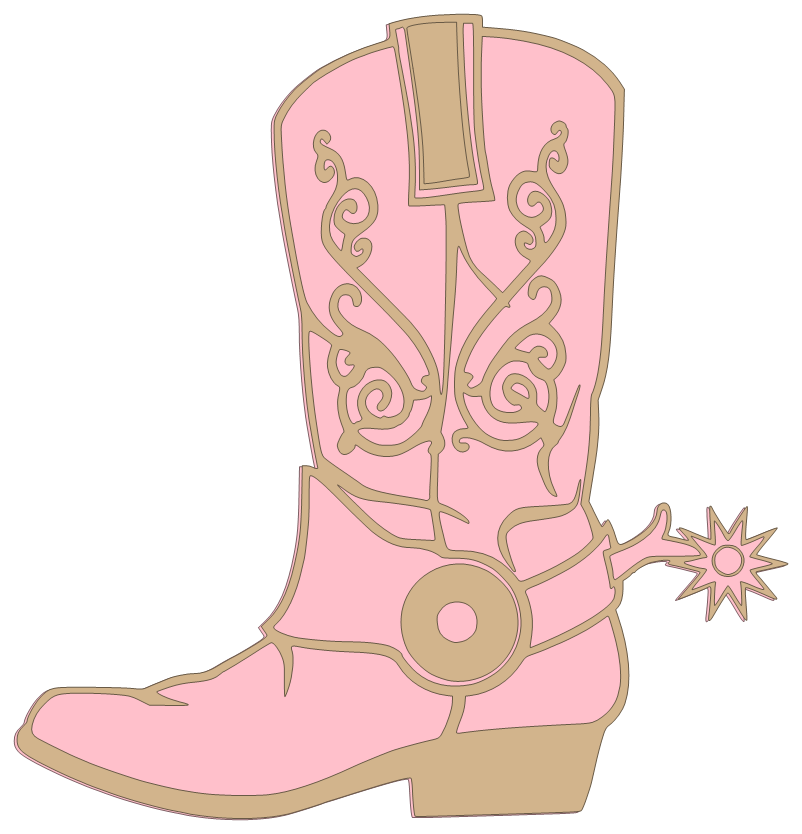 Cowgirl clipart brown cowboy boot. Pink clip art images
