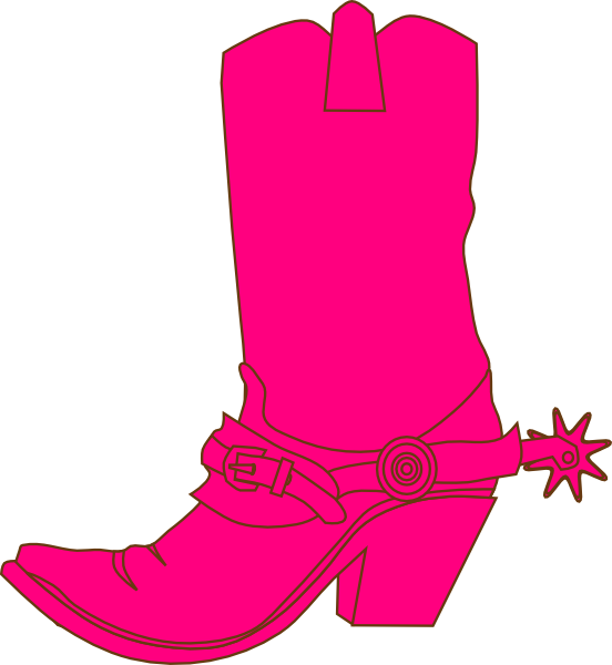 Cowgirl clipart cartoon. Hat and boot clip
