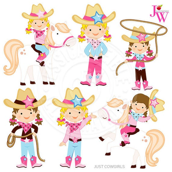 Just cowgirls digital graphics. Cowgirl clipart clip art