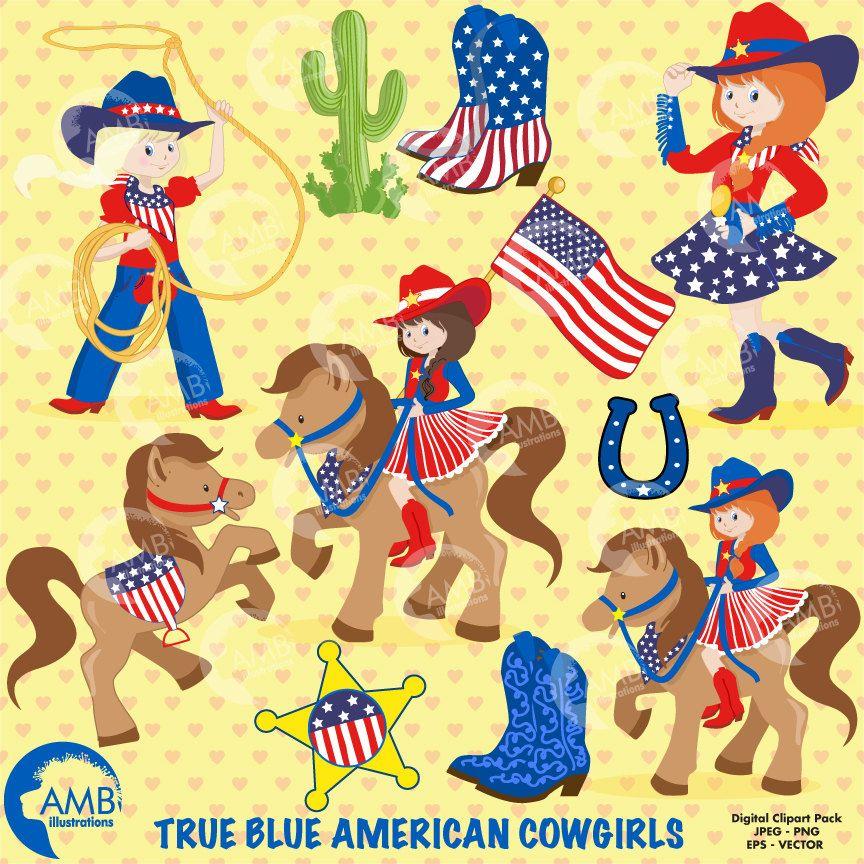 Cowgirl clipart cowboy american.