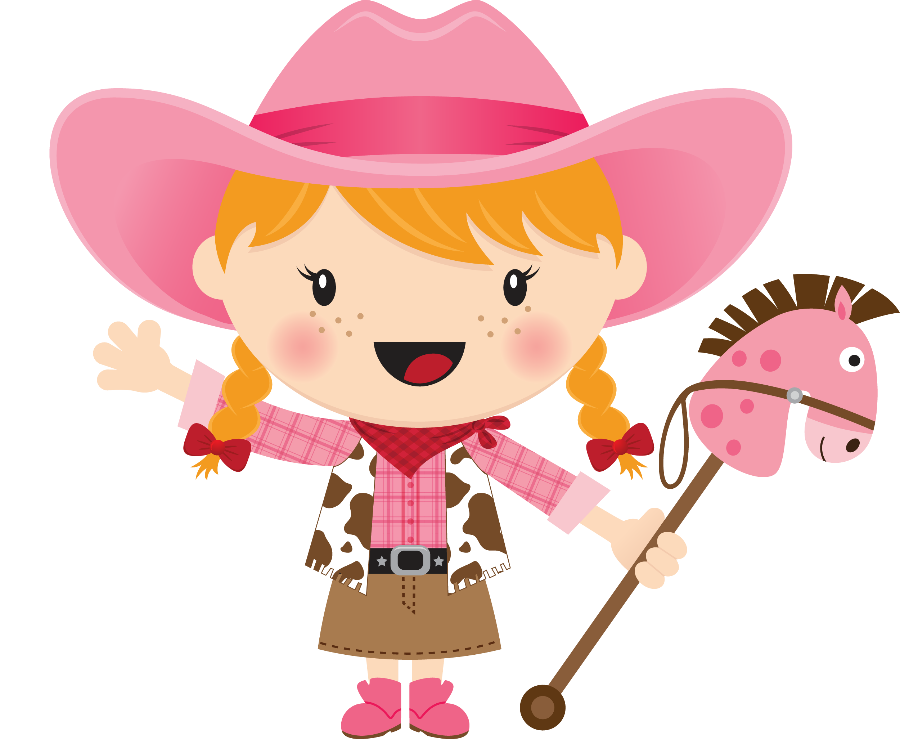 Pin by marina on. Cowgirl clipart cute