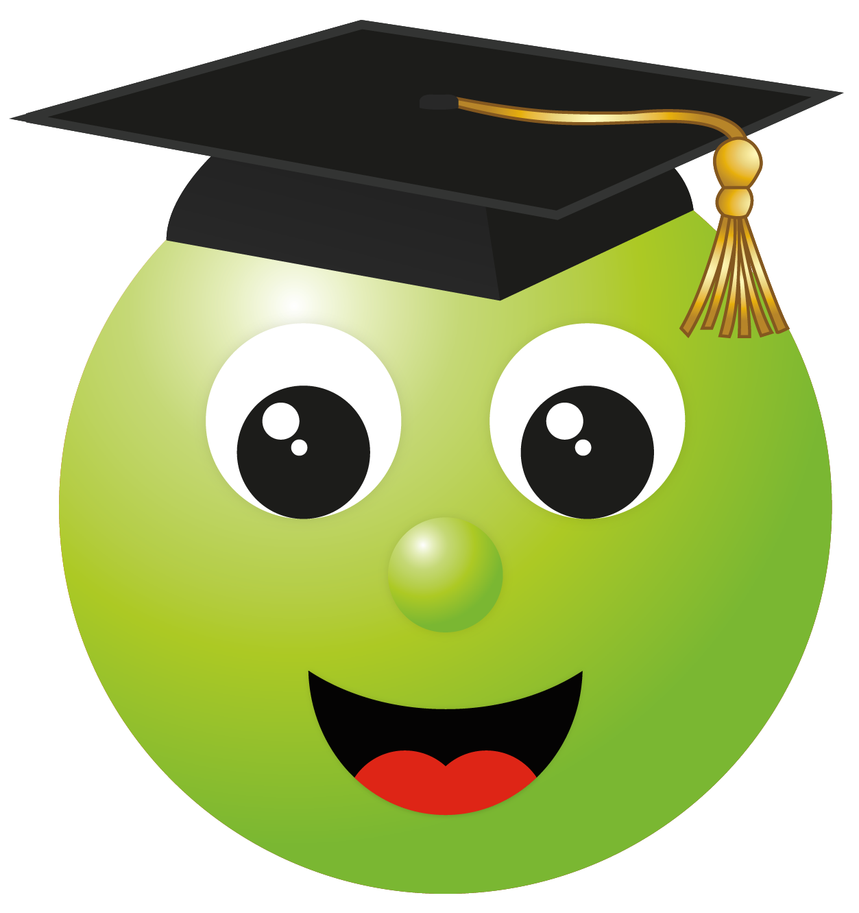caritas emoticon pinterest. Smiley clipart graduation