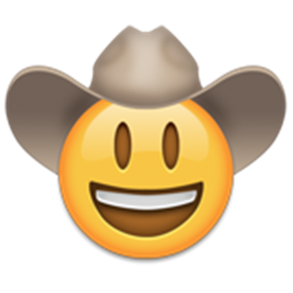 Animated cowboy hat maker. Cowgirl clipart emoji