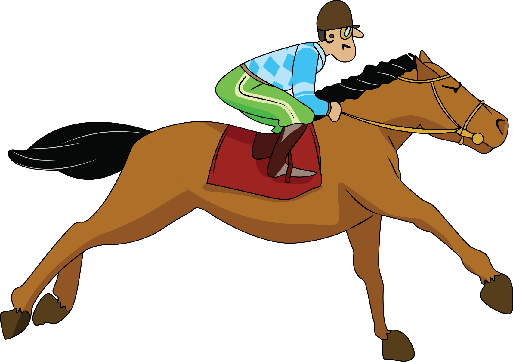 collection of kids. Horseshoe clipart tracks