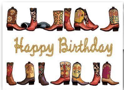 Western boots cowboy . Cowgirl clipart happy birthday