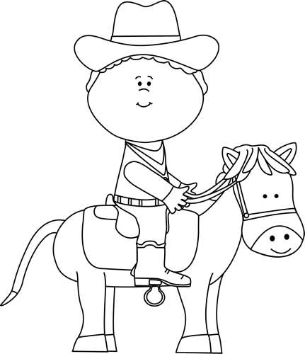 Horse black and white. Cowgirl clipart horseshoe