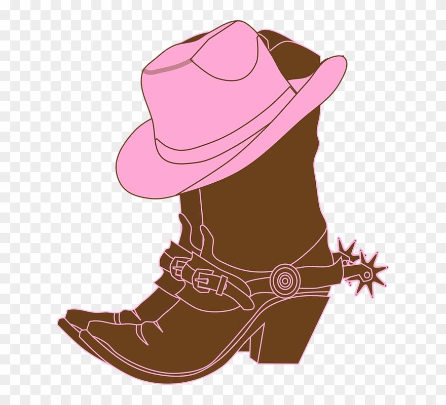 cowgirl clipart pink