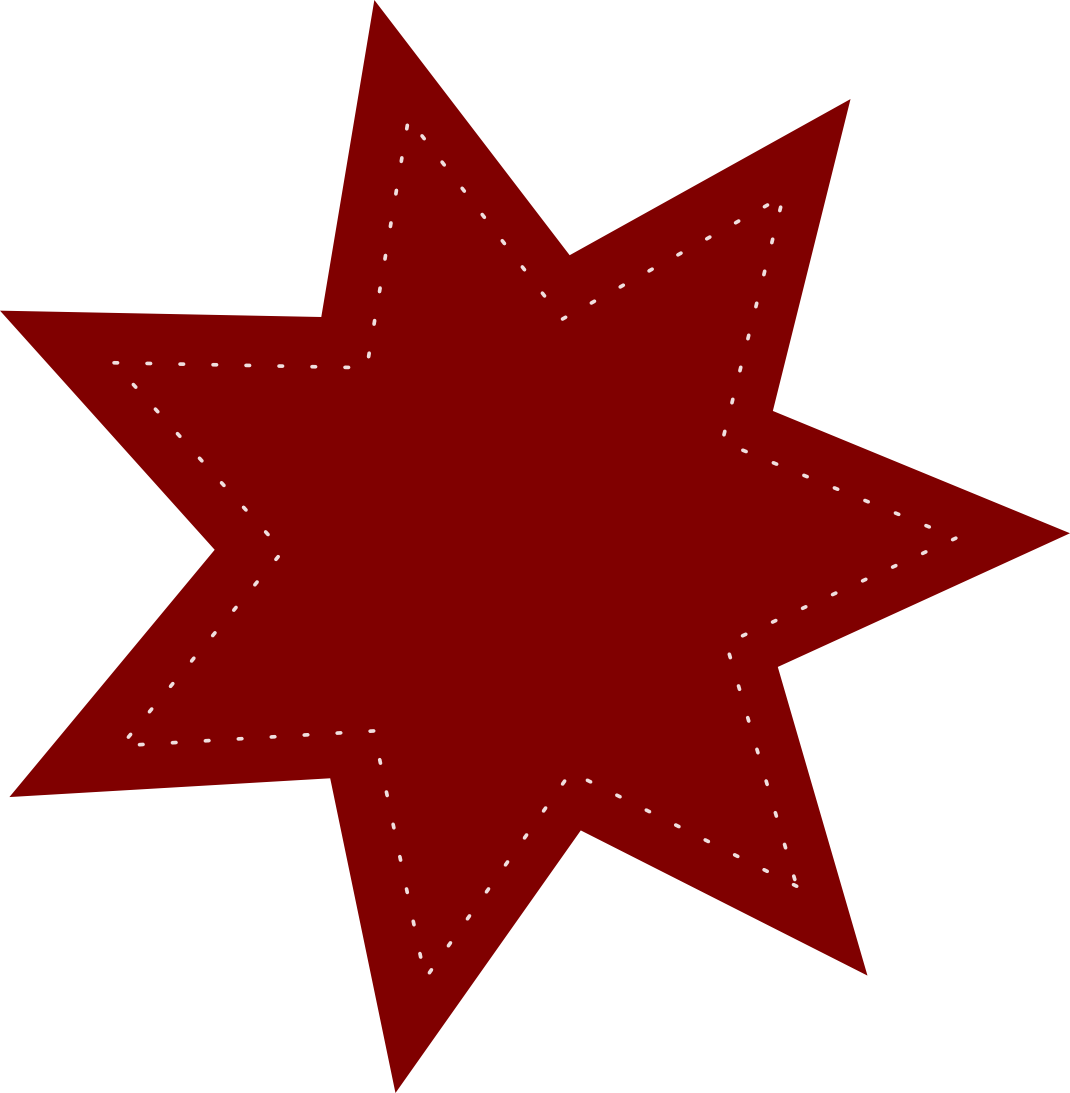 collection of cowboys. Crayon clipart star