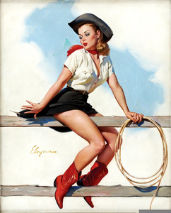 Pin up free images. Cowgirl clipart vintage