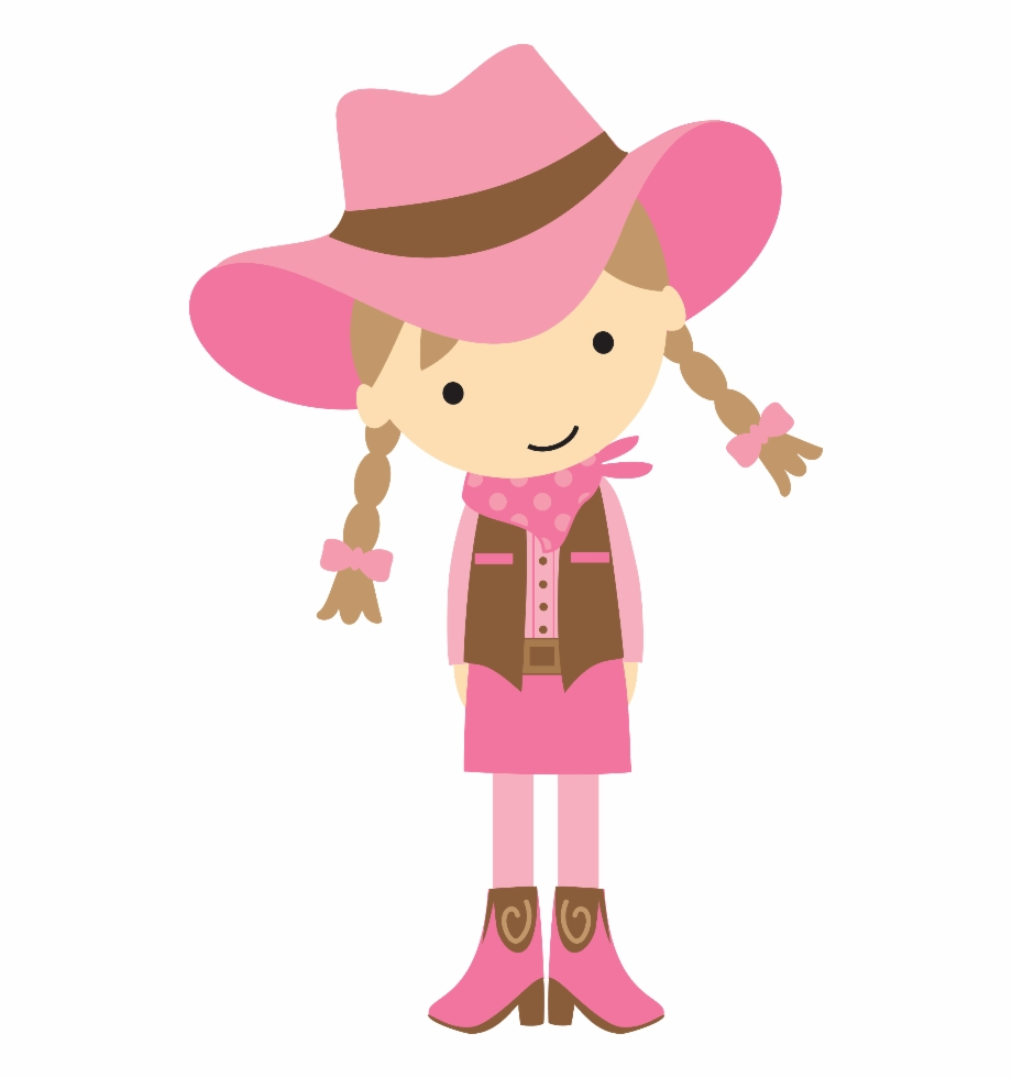 Cowgirl clipart western girl. Party cowboy free png