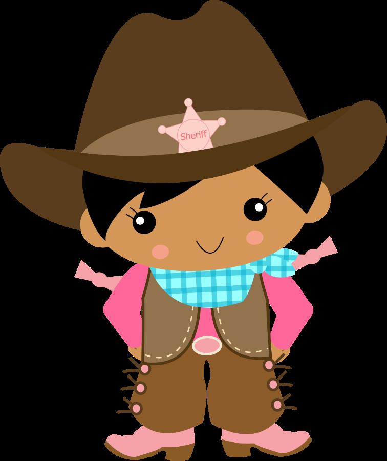 Cowgirl e minus westerncowboy. Design clipart cowboy