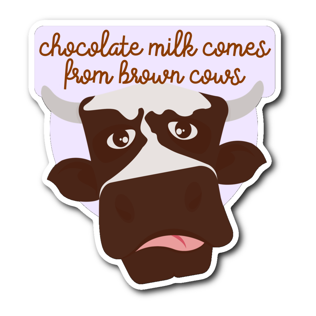 Cows clipart chocolate. Milk comes from brown