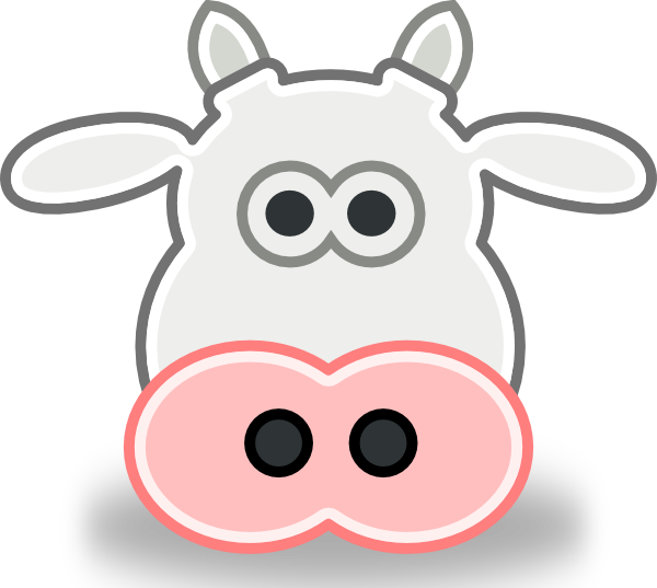 Cows clipart craft. Free vector tango style