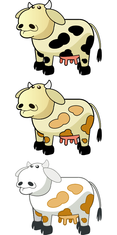 Three printable stickers free. Cows clipart craft
