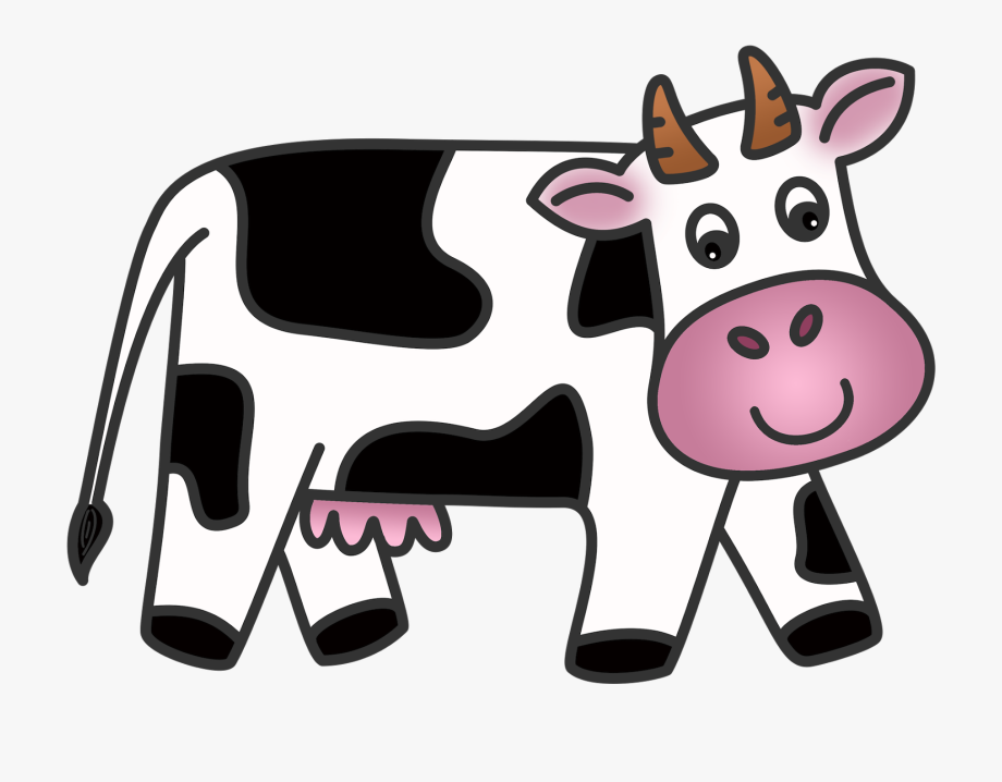 Cows clipart dairy cow. Transparent cartoon free