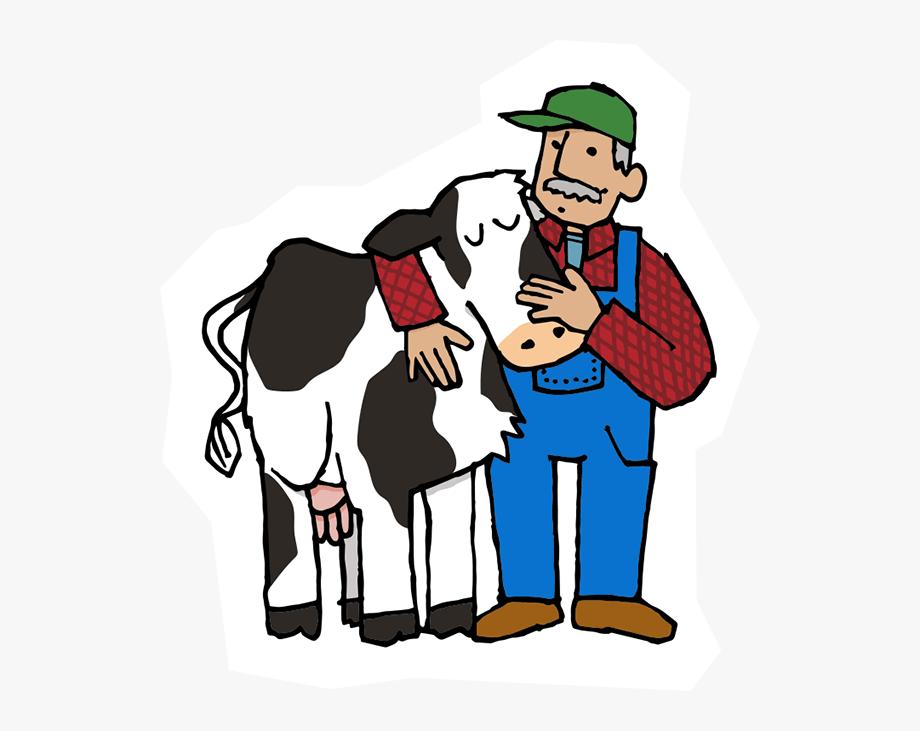 Cow and farmer w. Farming clipart cattle farming