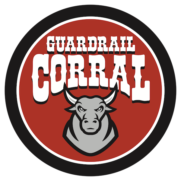Guardrail corral is the. Cows clipart fence