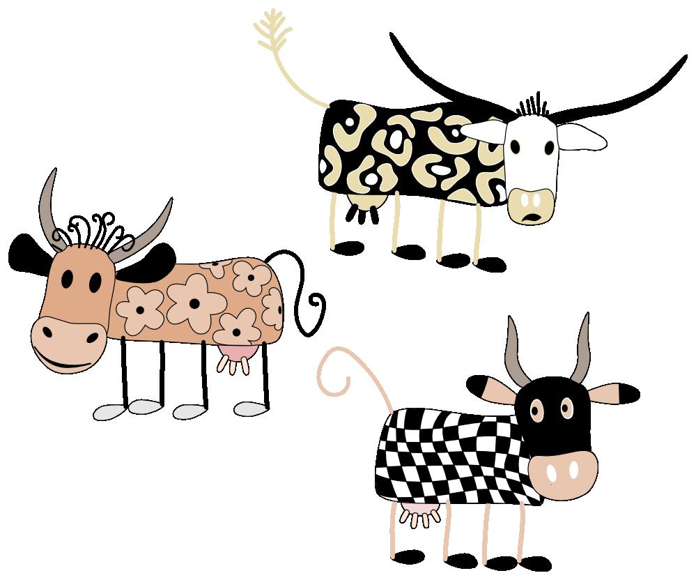 Cows clipart gambar. Clipartist net coloring book