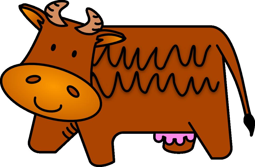 Clipartist net brown cow. Cows clipart superhero