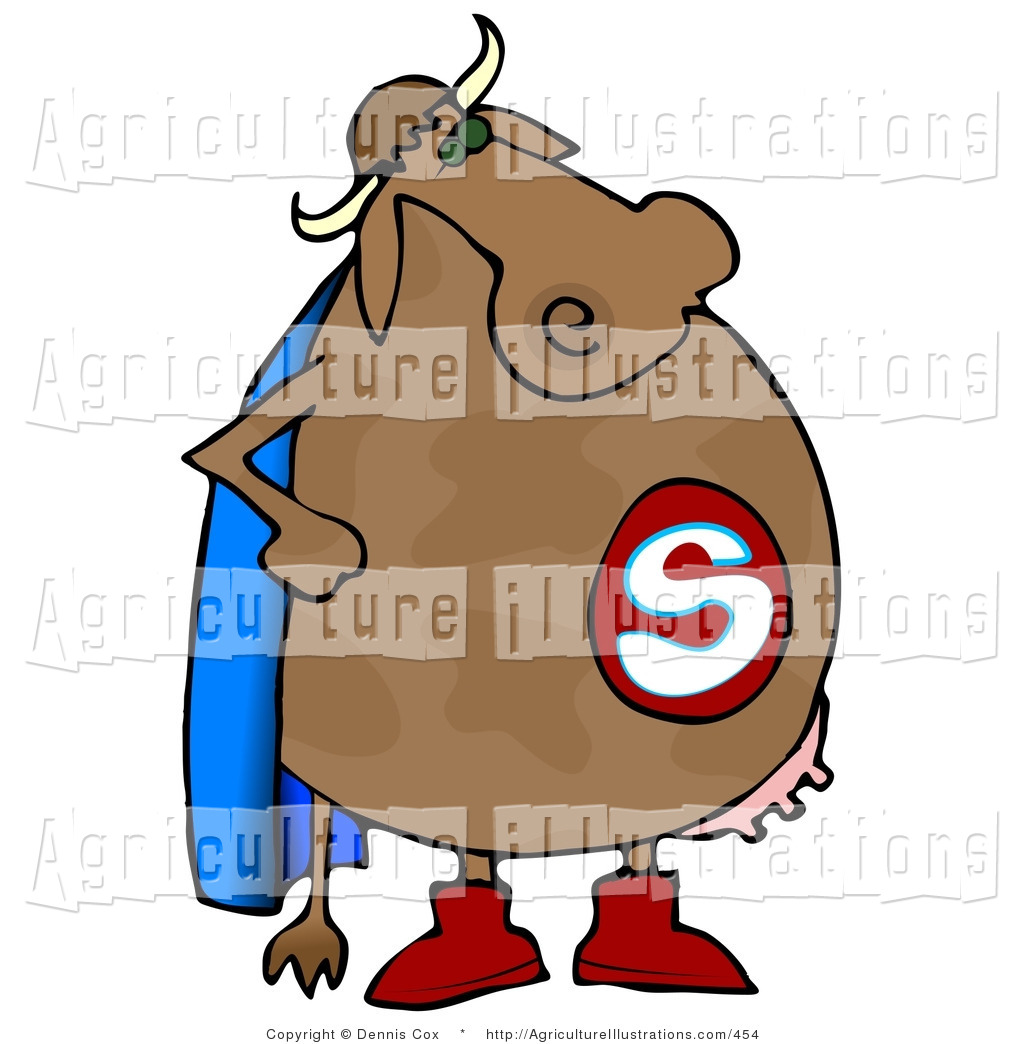 Cows clipart superhero. Agriculture of a cow