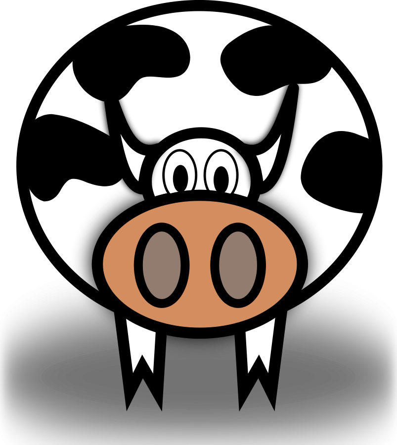 Cows clipart vector. Free cow download clip