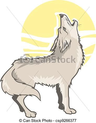 Howling clip art stock. Coyote clipart