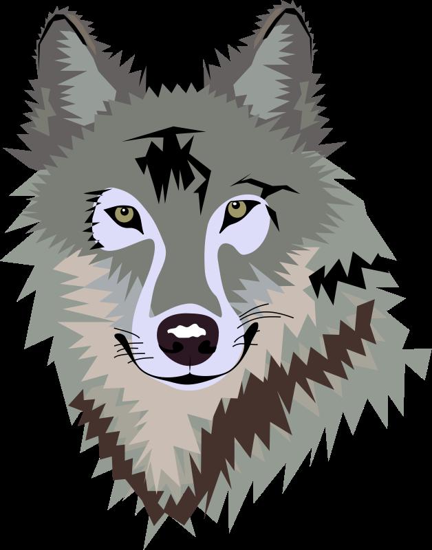 Silhouette clip art at. Wolf clipart cute